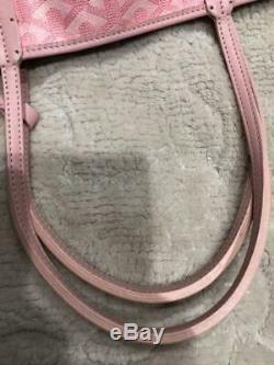 Goyard Saint Louis PM Hand Shoulder Bag Rose Pink Limited Color Rare With Pouch
