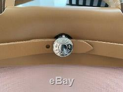 HERMES Herbag 31 Rose Sakura Tan Leather Rare Combo Excellent