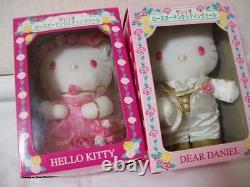 Hello Kitty & Daniel Wedding Rose Garden plush doll Sanrio 2003 Rare