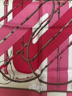 Hermes Foulard Gavroche Ultra Rare Sold Out White Pink Rose New