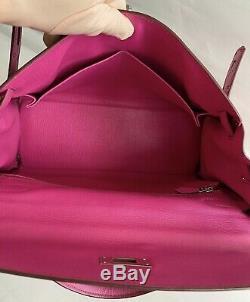 Hermes Kelly 32 Rubis Tadelakt Rare Bicolor Rose Tyrien Interior