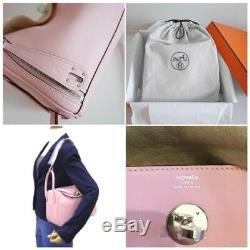 Hermes Lindy 26 Hand Shoulder Bag Purse Rose Sakura Pink Swift Auth Mint Rare