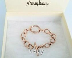 IPPOLITA RARE Diamond Rose Gold Chain Link Bracelet Stunning! $1750