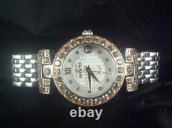 Invicta Angel Blush Hearts Watch Genuine Morganite 4 ctw & Diamonds. 04 ctw RARE