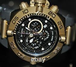 Invicta Men's Rare Subaqua Swiss Quartz Chronograph Black Dial Watch