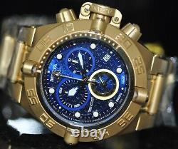 Invicta Men's Rare Subaqua Swiss Reserve Chrono Blue Dial Gold Steel Watch 16145