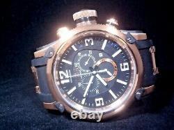 Invicta Men's Russian Diver Chronograph Rose Gold Black Dial Watch 11363 RARE