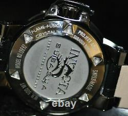 Invicta Mens Rare Subaqua Noma III Quartz Abalone Dial Black Leather Watch 19890