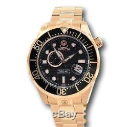 Invicta Pro Diver 13699 Mens 18k Rose Gold Automatic Grand Diver Watch 47mm RARE