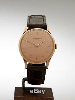 Iwc Vintage Cal. 89 Very Rare Pink Dial 18k Rose Gold Watch 35mm Com605