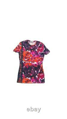 JEAN PAUL GAULTIER MESH STRETCH TOP TATTOO PRINT RED PINK NEW WITH TAGS! Rare