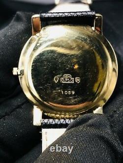 Jules Jurgensen Est. 1740 18k Yellow Gold Watch Vintage Rare