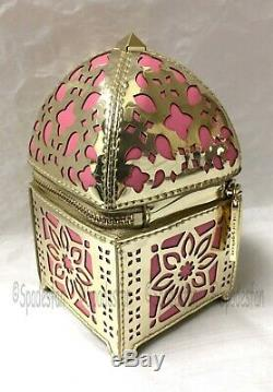 Kate Spade PWRU5611 Rambling Roses LANTERN Coin Purse Wallet Pink Gold NWT Rare