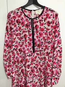 Kate Spade Pink Rose Silk Dress US12 (UK14/16) Rare Worn Once
