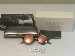 Krewe St. Louis sunglasses in Audubon Rose Mirrored New MSRP $255 Rare