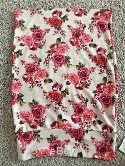 LULAROE Cassie Medium RARE! Pink VINTAGE ROSES ORIGINAL UNICORN NWT MADE IN USA