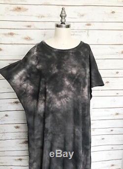 LULAROE Maria Tie Dye Acid Wash Dress Grey Rose Size 3XL NWT VHTF Rare Unicorn