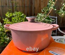Le Creuset Antique Rose Pink Cast Iron Pot 2 Qt 18 Rare