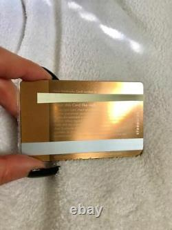 Limited Edition Rare Collectors Item 2013 Metal Starbucks Card Rose Gold