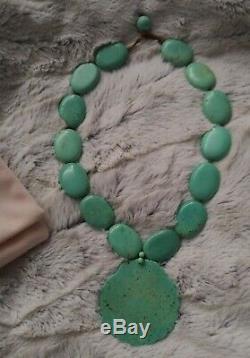Lola rose original stunning Shell necklace turquoise Rare large statement piece