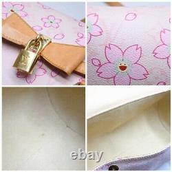 Louis Vuitton M92010 Monogram Cherry Blossom Papillon Hand Bag Rose Pink Rare