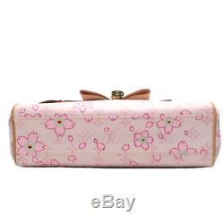 Louis Vuitton Monogram Cherry Blossom Sack Retro Rose Pink Hand Bag M92013 Rare