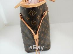 Louis Vuitton Monogram Neverfull MM Shoulder Bag GI0126 Rose Ballerine Rare