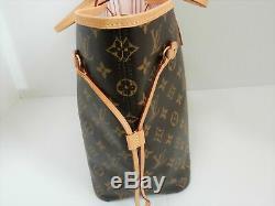 Louis Vuitton Monogram Neverfull MM Shoulder Bag Rose Ballerine Rare
