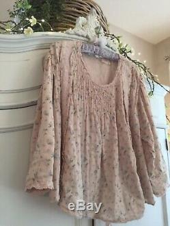 MAGNOLIA PEARL ELLIE Blouse, ANTIQUE BABY PERIWINKLE ROSE, SOLD OUT, RARE, NWT