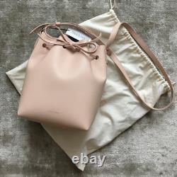 Mansur Gavriel Mini Leather Bucket Bag in ROSA MSRP$630 Rare Find