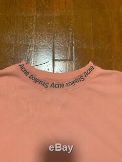 Mens Acne Studios Flogho oversized ROSE Crewneck Sweatshirt SIZE SMALL Rare