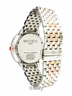 Michele Serein Diamond Two Tone Rose Gold Stainless MW21B01D2057 Watch RARE