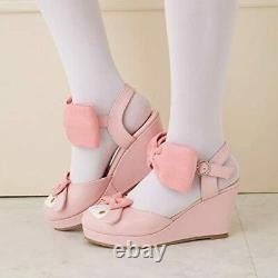 My Melody Pumps Shoes Rose Series Size M 2016 Pink Ribbon SANRIO Rare