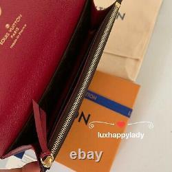 NEW AUTH LOUIS VUITTON Emilie Long Wallet Monogram Fuchsia GIFT SET RARE