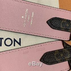 NEW LOUIS VUITTON BANDOULIÈRE Shoulder Strap J02330 Monogram Rose Pink RARE