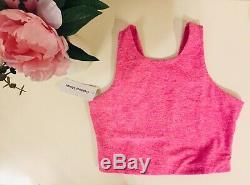 NEW Outdoor Voices Venus Crop Top Small Rose/Clay/Flamingo Pink NWT RARE