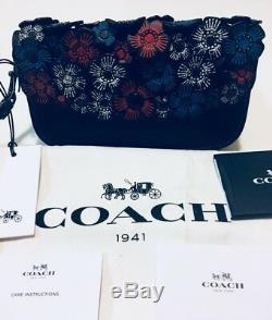 NWT Coach 1941 Tea Rose Leather Wristlet Clutch 58181 Black Pink SOLD OUT RARE