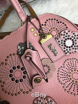 NWT Coach 26890 Peony 1941 Rogue With Tea Rose Satchel MSRP $995 Rare Gift Pink