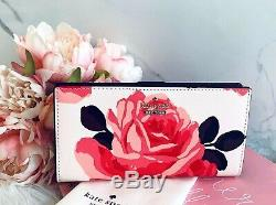 NWT Kate Spade Cameron Street Roses wallet Stacy pink sand wallet RARE floral