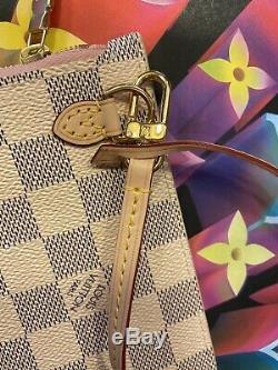 New! 100% Authentic Louis Vuitton Neverfull MM Pochette Wristlet Rose Rare