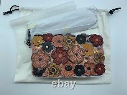 New COACH Dinky Tea Rose Crossbody Bag RARE F38197