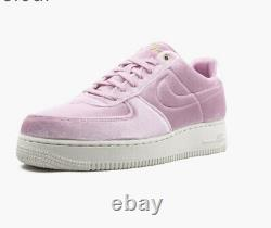 Nike Air Force 1 Low Premium 3 Velour Pink Rise AT4144-600 Men's Size 10.5 RARE