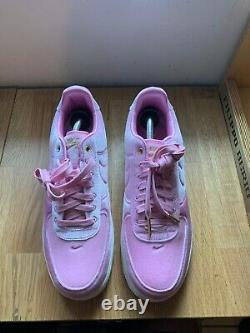 Nike Air Force 1 Low Premium 3 Velour Pink Rise AT4144-600 Men's Size 10 RARE