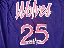 Nike Derrick Rose Minn. Timberwolves Prince Edition Swingman JerseySz 54Rare