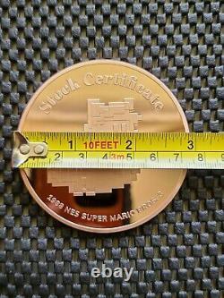 Nintendo Super Mario Bros 3 RALLYRD Stock Coin Medal Rose Gold Rare Promo SNES