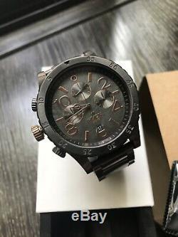 Nixon 48-20 Chrono Rose Gold and Gunmetal Men's Watch Paris Custom Rare 1/1