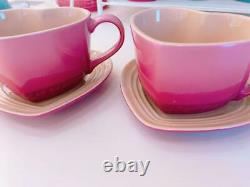 No Box Very Rare! Le Creuset Coffee Cup Mug Heart Shaped Rose Quartz SetUnused
