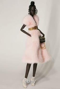 No Doll12.5 Lovetones Rose Pink Fur DressFashion Set Look #4LE 30NewRare
