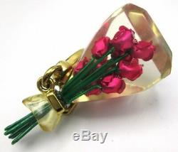 Nwt Rare & Htf Juicy Couture 2009 Pink Roses Charm Yjru3788
