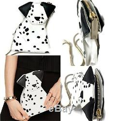 Nwt Rare Kate Spade Rose Colored Glasses Origami Dalmatian Purse Bag